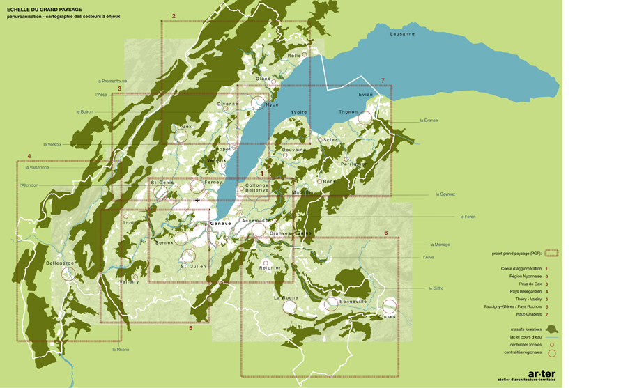 plan paysage du projet d'agglomération 2