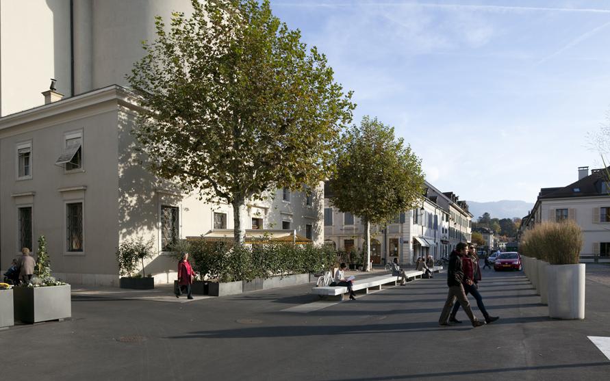 aménagement d'espaces publics à carouge