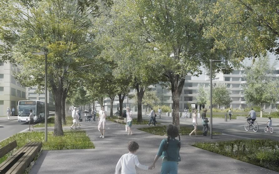 espaces publics aux communaux d'ambilly